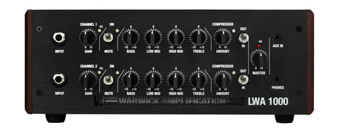 Warwick LWA 1000 Lightweight Bass amp 2 channel