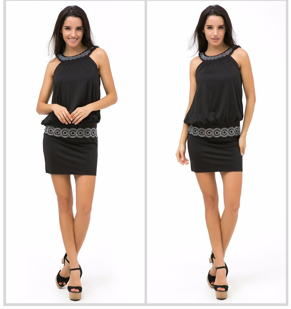 Women Casual Dress Sleeveless Fashion Bodycon Dresses - Style Lavish