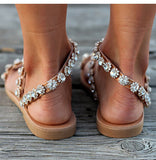 Women Sandals Bling Crystal Summer Shoes Woman Beach Flat Sandals Flip Flop Ladies Soft Bottom Slippers