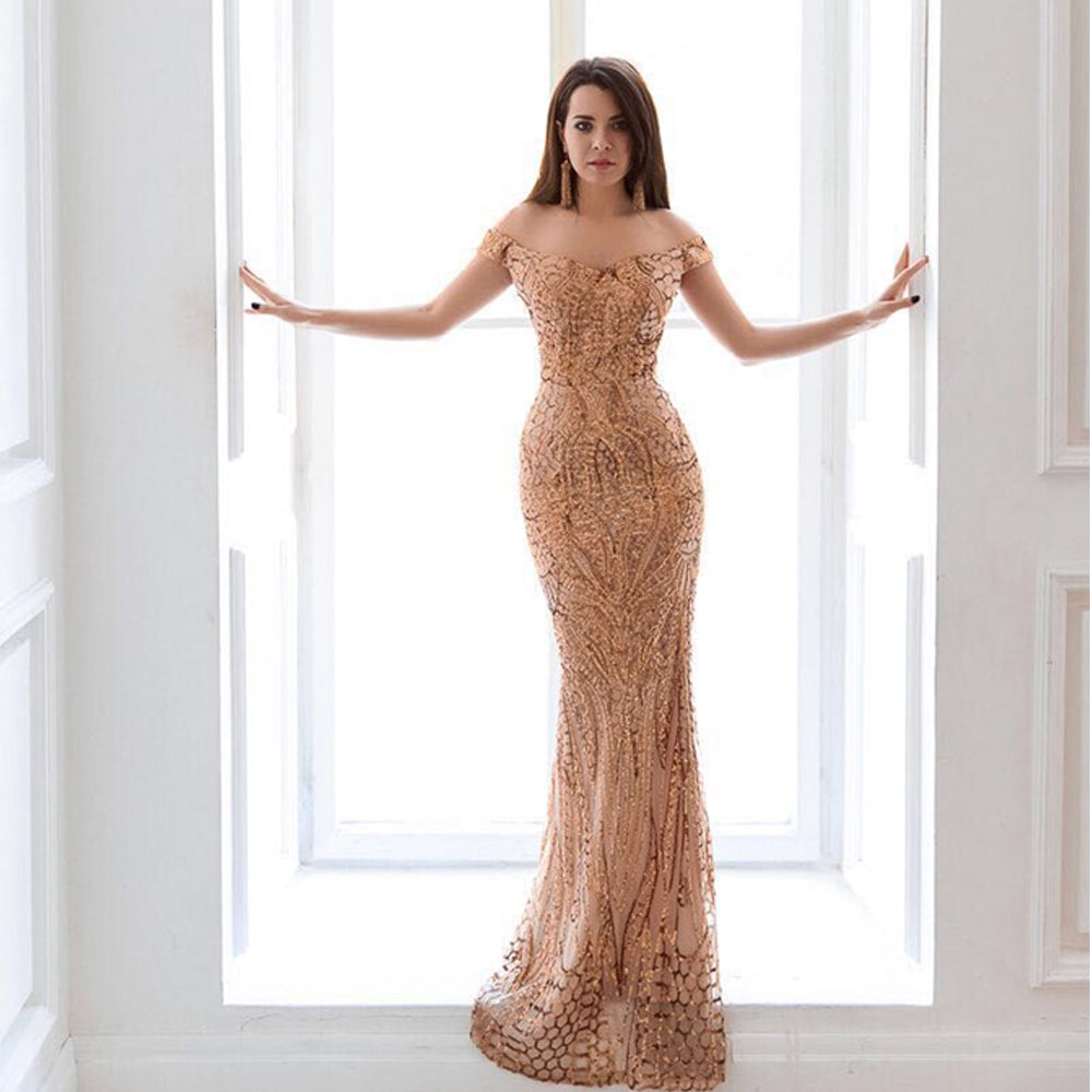 Sexy bra party dress sequin maxi dress