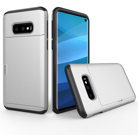 For Samsung Galaxy Note 9 Case Slide Armor Wallet Card Slots Holder Cover For Samsung S10 Plus S8 S9 Plus S10 Lite J3 J5 2016