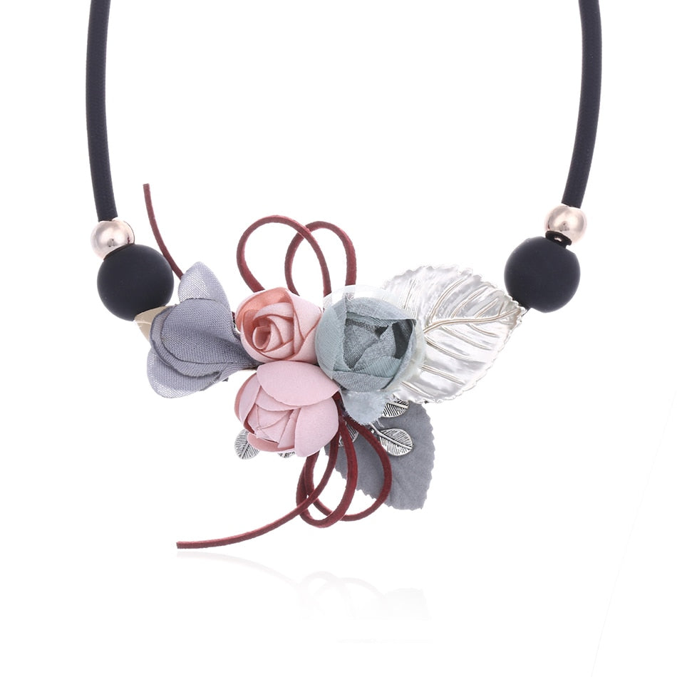 Women Necklace Statement Necklaces & Pendants Flower and Leaf Necklace For Women Jewelry