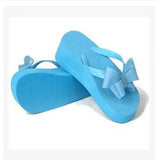 Women Sandals Flowers Wedges Summer Sandals sweet bowtie Women platform Beach Flip Flops Shoes