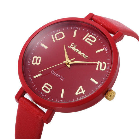 Women Casual Checkers Faux Leather Quartz Analog Wrist Watch  Women Watches