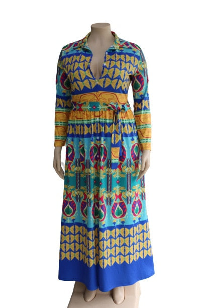 African Dresses For Women African Clothing Dashiki Fashion Print Cloth Long Maxi Dress Africa Clothing