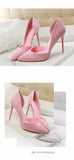 Summer Shoes Woman Sweet Women Party Wedding  Shallow Mouth Cut Out Two Piece Ladies Shoes Thin High Heel Pumps