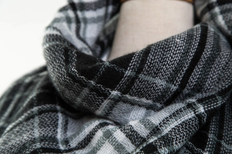 Winter Tartan Cashmere Scarf Women Plaid Blanket Scarf Designer Acrylic Basic Shawls Women's Scarves and Wraps