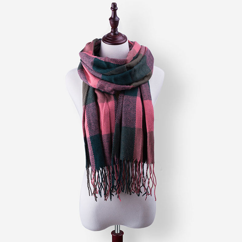 Women Winter Scarf And Shawl Echarpe Warm Plaid Scarf