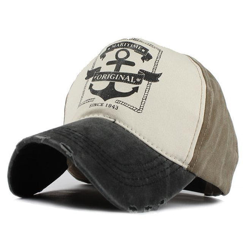 Hip Hop Snapback Hats Man Woman pure cotton baseball caps do old pirate ship anchor gorras wash cap