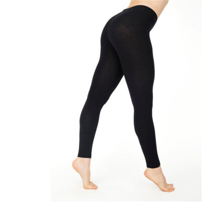 Women Casual Ankle-length Leggings Elastic Waist Cotton Leggings Women Clothing
