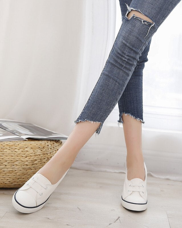 Pumps Shoes Women Europe America Style Women Spring Autumn Thin High Heel Lace Up Fashion Casual Denim Canvas Shoe
