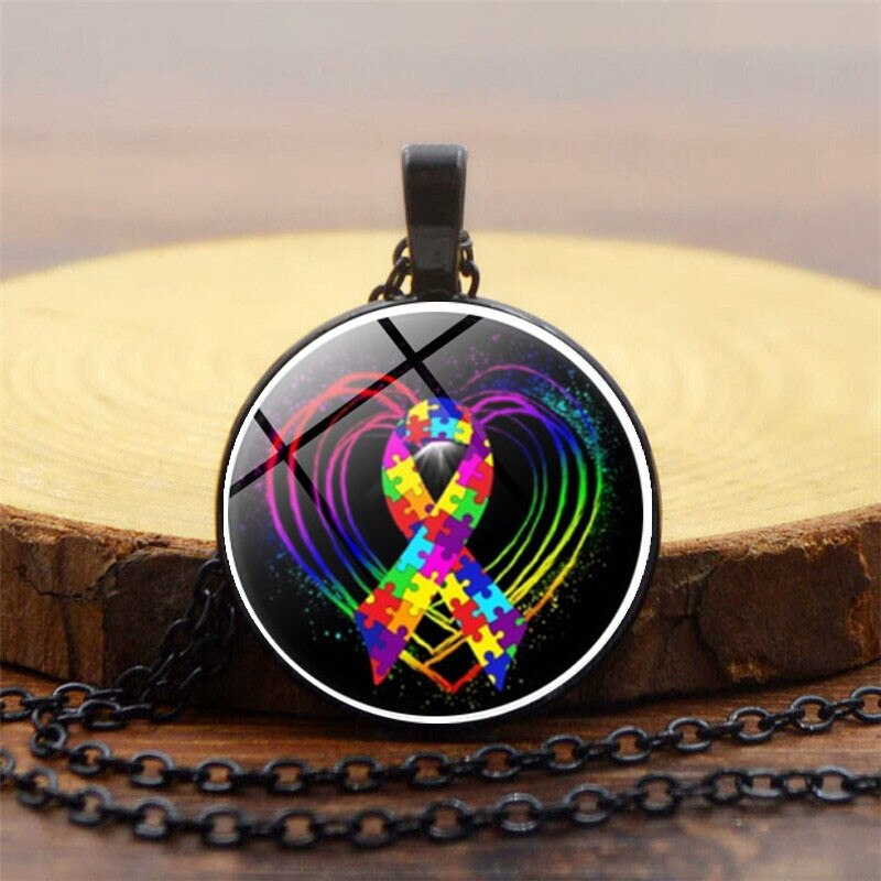 Necklace for Men Autism Definition Necklace Autism Awareness Necklace Autistic Necklace Humans Full of Life and Love Jewelry Necklace