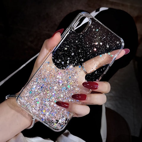 Silicone Case for Samsung Galaxy S11 S10 Plus S10e S11e S8 S9 Plus S7 Edge A71 A51 A81 Note 8 9 10 Plus Cases Love Heart Star