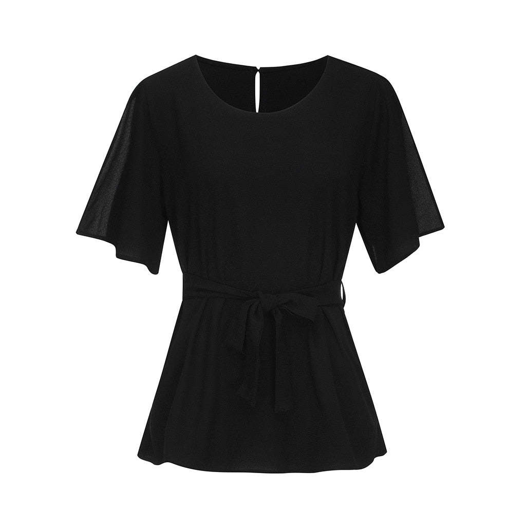 Blouse Women Summer Clothes Tunic Blouse Short Sleeve Women Clothing