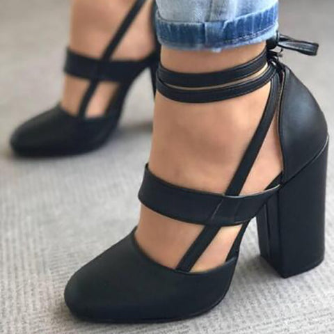 Summer Sexy Woman Peep Toe Square Heel Sandals Shoes Ankle Strap With One Word Faux Fur Woman Shoes