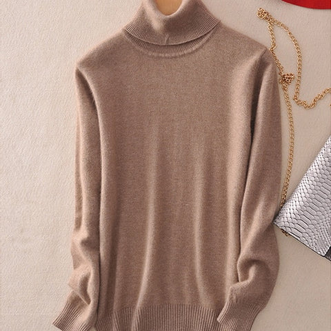 Cashmere Sweater Women Knitted Turtleneck Winter Cashmere Sweater For Women Warm Sweaters