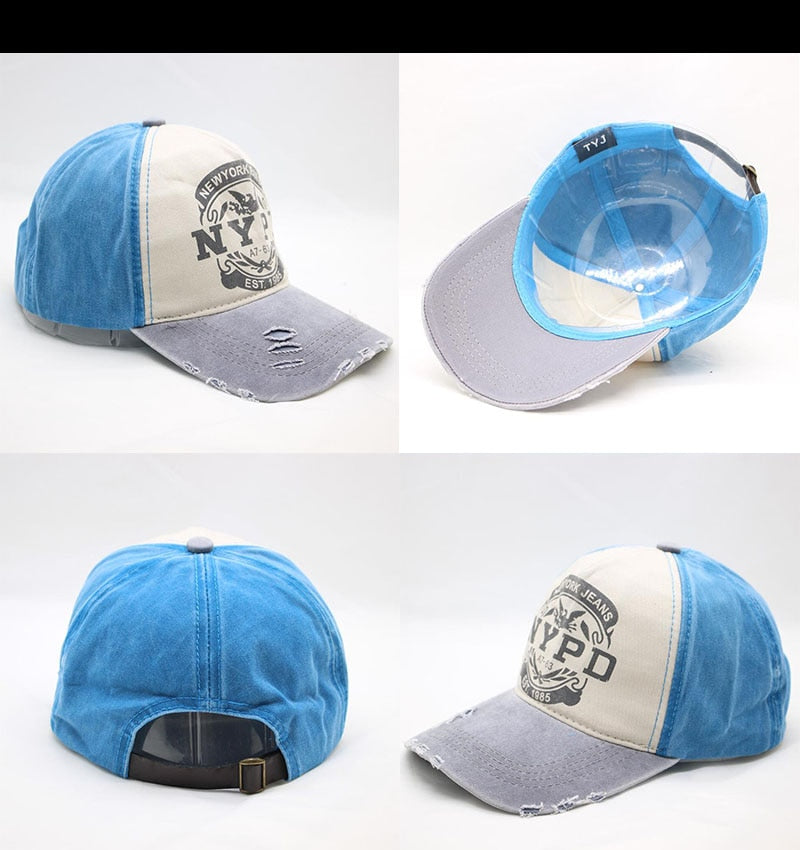 Men And Woman Blue Owl With A Rose On Its Back Adjustable Comfortable Cotton Common Cap