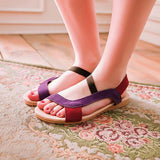 Women Fashion Sandals Flats Heel Shallow Causal Shoes - Style Lavish