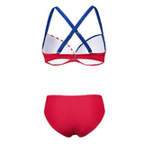 American Flag Print Bikini Set Women Strappy Push-up Bra Underwire Swimsuit Woman Bathing Suit Thong Swimwear