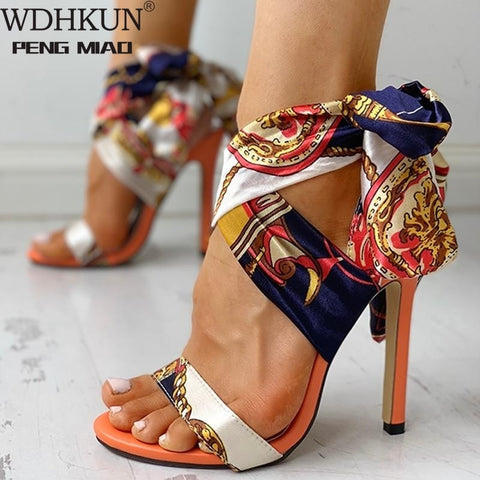 Women Sandals Fashion High Heels Sandals Shoes Woman Peep Toe Stiletto Sexy Women Heels  Summer Pumps