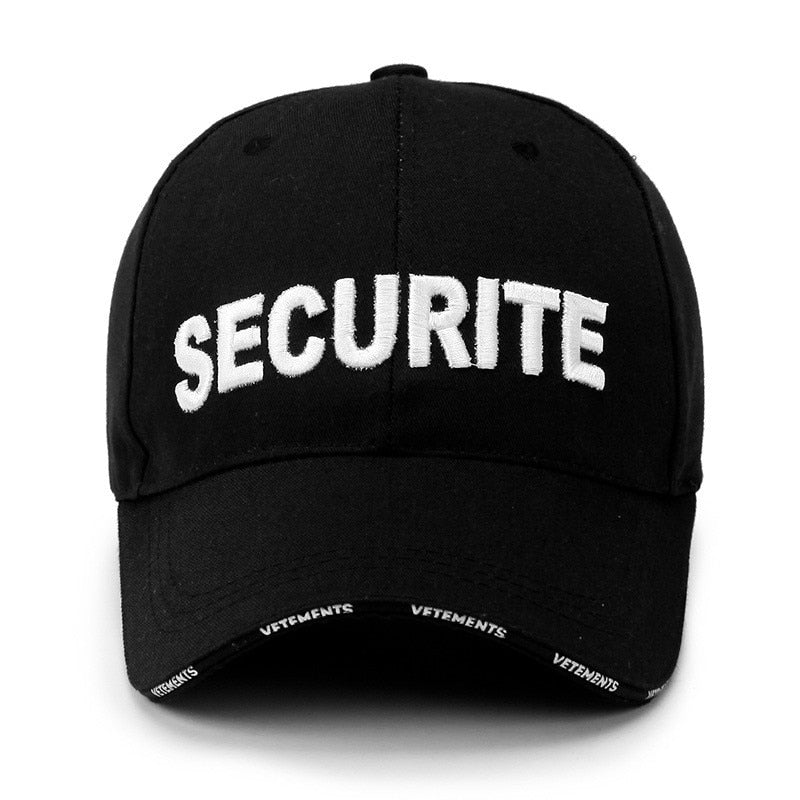 Fashion Baseball Snapback Cap For Security Letters Cotton Cap Summer Sun Hat Women Men Lovers Baseball Cap Hat