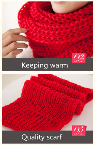 Fashion New Unisex Winter scarf knitted Scarves Collar Neck Warmer woman's Crochet Ring Spain Loop