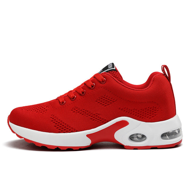 Women Shoes Air Cushion Sneakers Breathable Thick Sole Ladies Platform Trainers Height Increasing Running Shoes