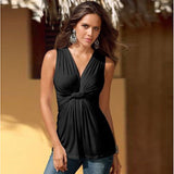 Sexy Women Tops Fashion Sleeveless Vest Summer Deep V-neck Tank Tops Casual Ladies Tops