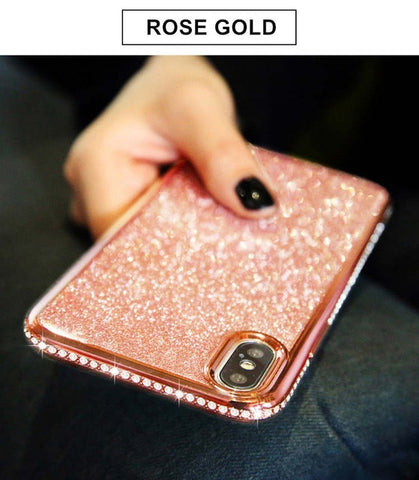 Rhinestone Cases For SamSung Galaxy S7 Edge S8 S9 S10 Plus S10E J7 A8 A6 A7 2018 Note 8 9 A40 A70 A10 A50 M20 M10 Glitter Covers