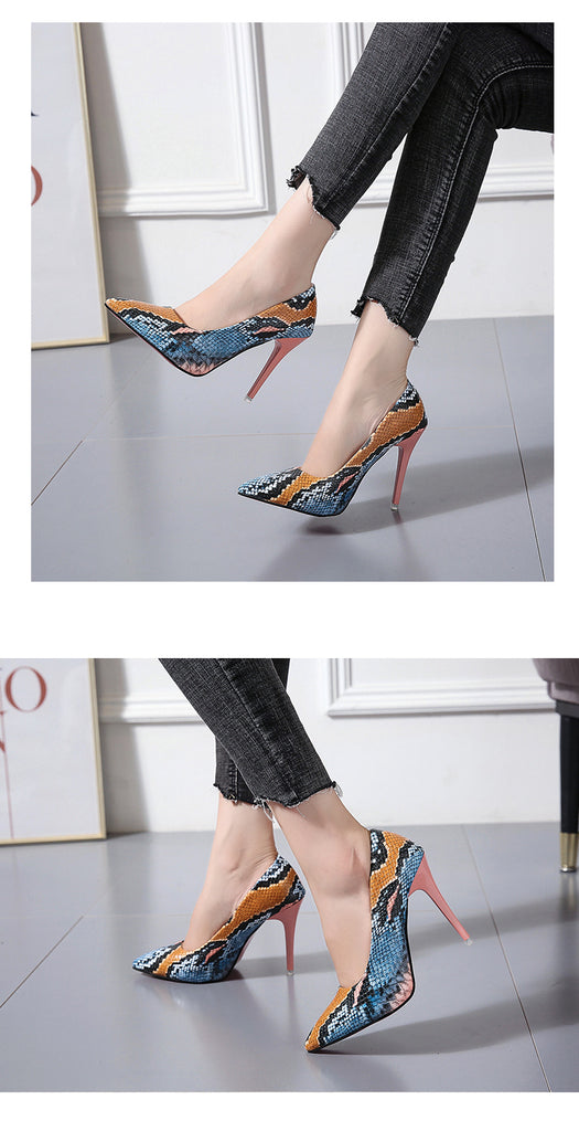 Stiletto Heels Women Pumps Red Pointed Plaid Shoes Women Shallow High Thin Heels Party Wedding Shoes
