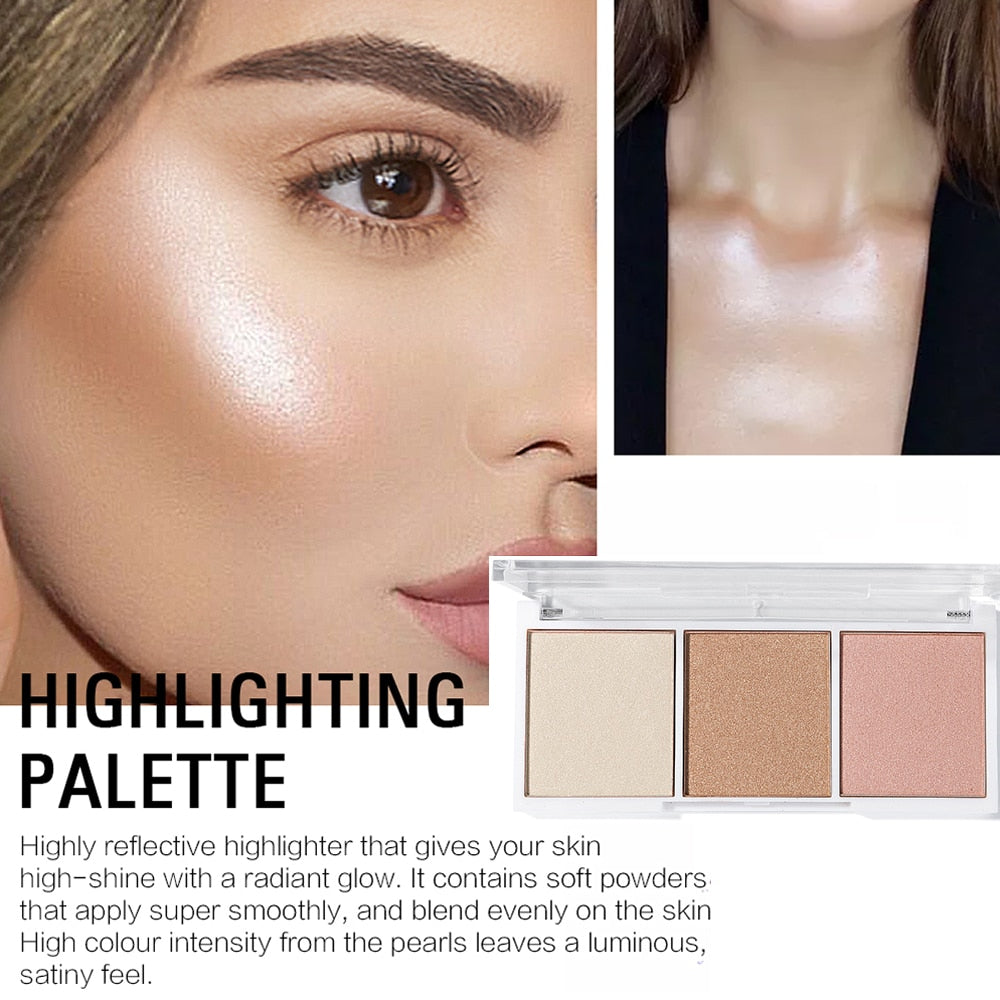 4 Colors Highlighter Palette Makeup Face Contour Powder Bronzer Make Up Blusher Professional Blush Palette Cosmetics