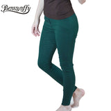 Fashion Spring and Summer  Women's Clothing Pencil Pants Ladies Cotton High Waist Elastic Trousers - Style Lavish