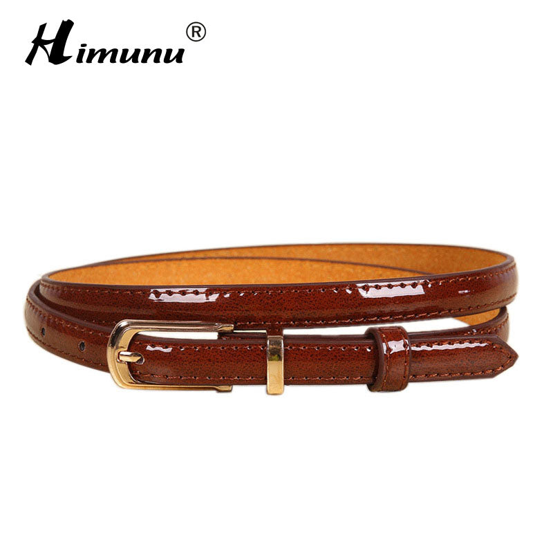 Genuine Leather Belt for Women Pin Buckle Cowhide Leather Jeans Girdles Waist Belts Smooth Surface