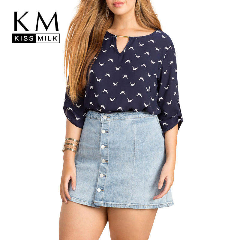 Women Summer Fashion Casual Tops Chiffon Blouse Shirt