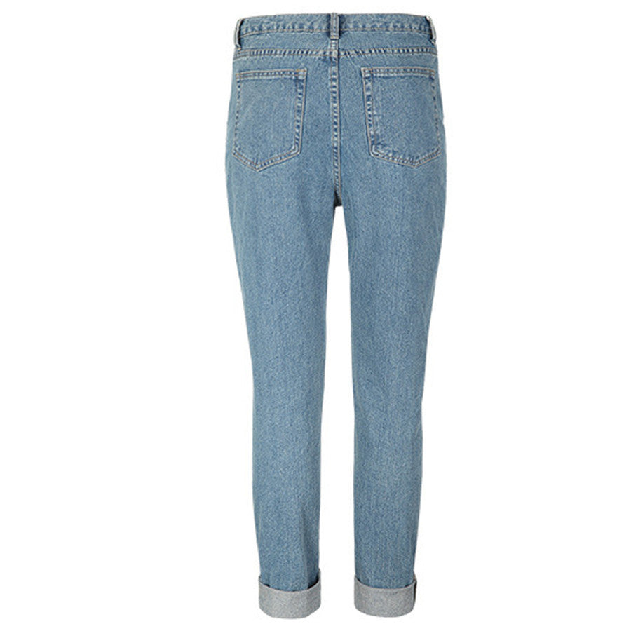 Women Jeans Fashion Vintage Style Full Length Loose Cowboy Pants