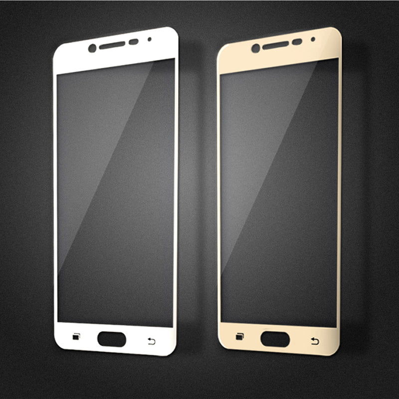2.5D 9H Colorfull Full Cover Tempered Glass for Samsung Galaxy A3 A5 A7 2016/7 C5 C7 J2/5 prime Screen Protector Toughened Glass - Style Lavish