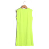 Women Dress Tassel Fluorescent Color Summer Casual Dress Sleeveless Slim Fit Mini Dress Lady - Style Lavish