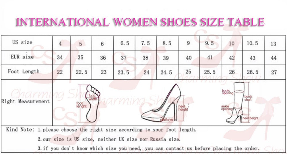 Fashion Square High Heel Platform Winter Over Knee High Woman Round Toe Slip On Dress Shoes - Style Lavish