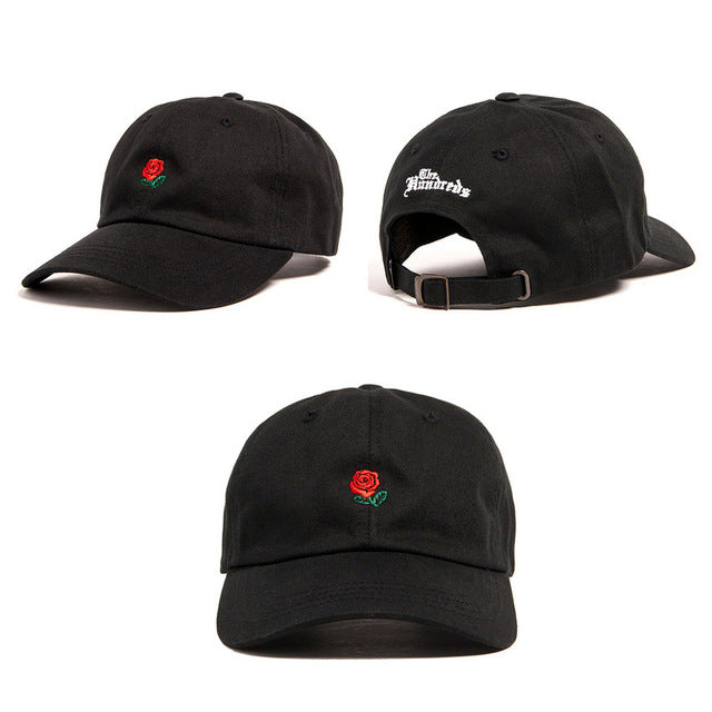 38fd0910bfd ... Rose Baseball Caps Women Snapback Cap Flower Summer Embroidery Curved  Spring Snapback Caps Men Trapback Hip ...