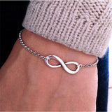 Bracelets For Men Women Retro Chain Cross Heart Handcuff Love Valentine Gift - Style Lavish
