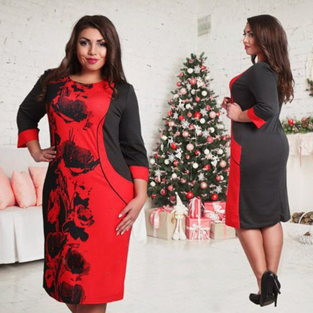 Fashionable Elegant Women Dresses Casual O-Neck Slim Bodycon Dress - Style Lavish