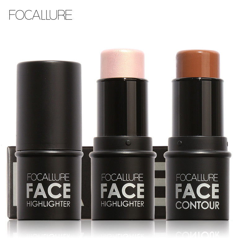 Focallure Bling Highlighter stick All Over Shimmer Highlighting Powder Creamy Texture Water-proof Silver Shimmer Light