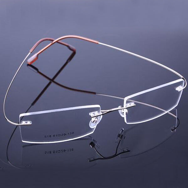 9 Colors Fashion Rimless Glasses Frames Fashion Memory Titanium Eyeglasses Frames Prescription Optical Frames - Style Lavish
