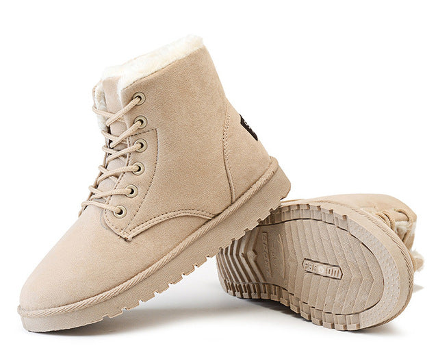 Women Winter Boots Suede Snow Ankle