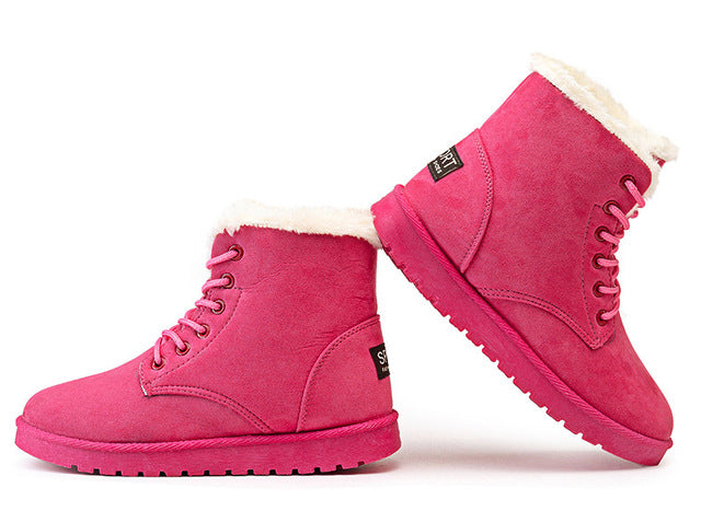 Women Winter Boots Suede Snow Ankle Boots Warm Winter Shoes