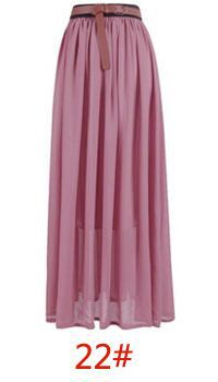 Custom Made Chiffon Long Skirt Women's Long Maxi Skirt