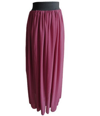 Custom Made Chiffon Long Skirt Women's Long Maxi Skirt - Style Lavish