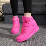 New Ankle Boots Heels Shoes Women Casual Sneaker Shoes Height Increased High Top Winter Boots - Style Lavish