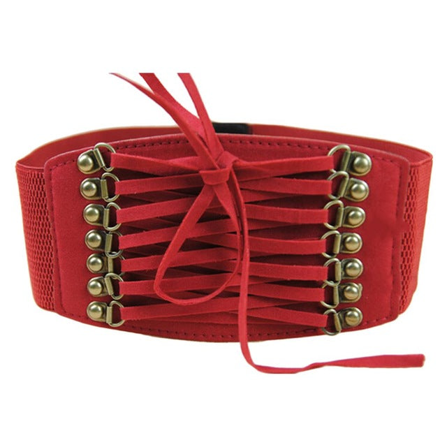 new fashion european style trench velvet retro rivet tassel wide cummerbund strap belt waist female  women accessories