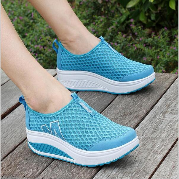 Height Increasing Summer Shoes Women Casual Shoes Sport Fashion Walking Shoes for Women Swing Wedges Shoes Breathable